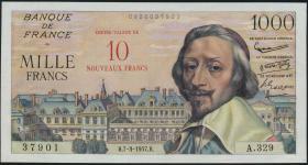 Frankreich / France P.138 10 NF a.1000 Francs 1957 (1)