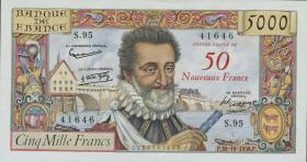 Frankreich / France P.139a 50 NF a.1000 Francs 1958 (1)