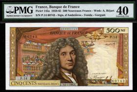 Frankreich / France P.145a 500 Neue Francs 1964 (2)