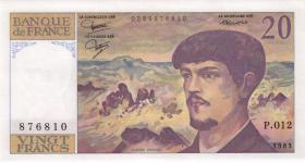 Frankreich / France P.151a 20 Francs 1983 Debussy (1)