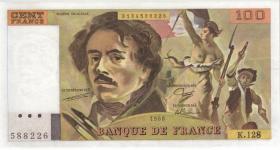 Frankreich / France P.154d 100 Francs 1990 (1)