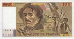 Frankreich / France P.154g 100 Francs 1993 (1)