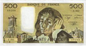 Frankreich / France P.156i 500 Francs 1991 (1)