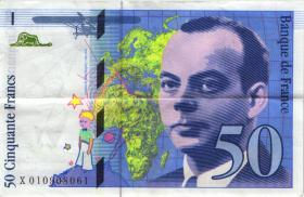 Frankreich / France P.157b 50 Francs 1993 Saint-Exupery (3)