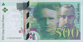 Frankreich / France P.160c 500 Francs 1998 (1)