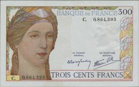 Frankreich / France P.087 300 Francs (1938) (1)