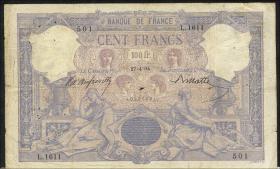 Frankreich / France P.065b 100 Francs 27.4.1894 (4)