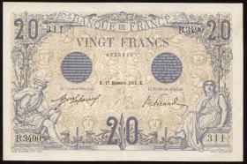 Frankreich / France P.068b 20 Francs 17.12.1912 (2)