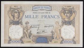 Frankreich / France P.090 1000 Francs 1940 (1/1-)
