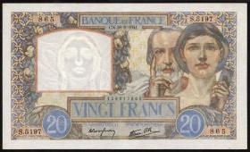 Frankreich / France P.092b 20 Francs 1941 (1)