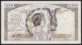 Frankreich / France P.097a 5000 Francs 5.10.1939 (1/1-)