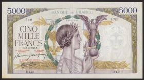 Frankreich / France P.097c 5000 Francs 13.11.1941 (2)
