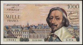 Frankreich / France P.134a 1000 Francs 4.10.1956 (1)