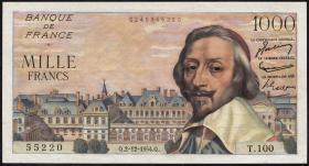 Frankreich / France P.134a 1000 Francs 2.12.1954 (1)