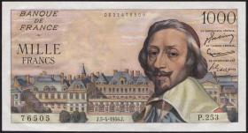 Frankreich / France P.134a 1000 Francs 5.4.1956 (1)