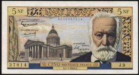Frankreich / France P.141 5 Neue Francs 2.7.1964 (2+)