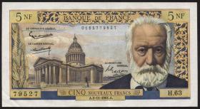Frankreich / France P.141 5 Neue Francs 2.11.1961 (2+)