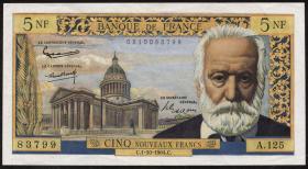 Frankreich / France P.141 5 Neue Francs 1.10.1964 (2)