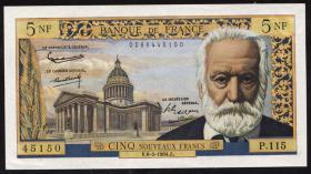 Frankreich / France P.141 5 Neue Francs 2.5.1963 (2)