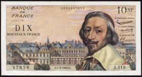 Frankreich / France P.142 10 Neue Francs 1.9.1960 (2)