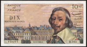 Frankreich / France P.142 10 Neue Francs 2.2.1961 (1) Kardinal Richelieu