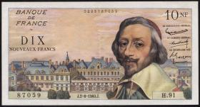 Frankreich / France P.142 10 Neue Francs 2.6.1960 (2)
