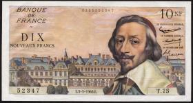 Frankreich / France P.142 10 Neue Francs 5.5.1960 (2/1)