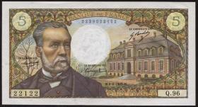 Frankreich / France P.146b 5 Francs 6.2.1969 (2+)