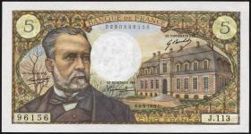 Frankreich / France P.146b 5 Francs 4.9.1969 (1/1-)