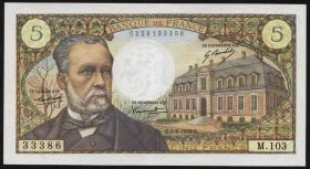 Frankreich / France P.146b 5 Francs 5.6.1969 (2+)
