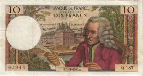 Frankreich / France P.147a 10 Francs 1965 (3)