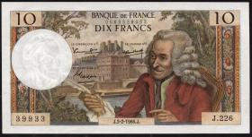 Frankreich / France P.147b 10 Francs 1966 (1)