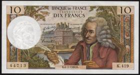 Frankreich / France P.147c 10 Francs 2.1.1969 (2/1)