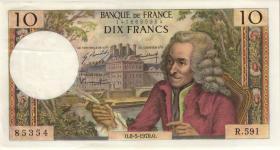 Frankreich / France P.147c 10 Francs 8.5.1970 (2/1)