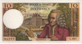 Frankreich / France P.147c 10 Francs 5.2.1970 (2/1)