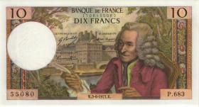 Frankreich / France P.147d 10 Francs 3.6.1971 (2/1)