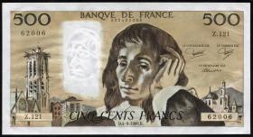 Frankreich / France P.156e 500 Francs 1980 (1)