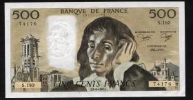 Frankreich / France P.156e 500 Francs 1983 (1)