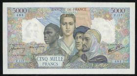 Frankreich / France P.103a 5000 Francs 1942 (1)