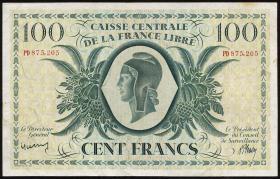 Fra.-Äquatorialafrika/F.Equatorial Africa P.13a 100 Francs L. 1941 (3)