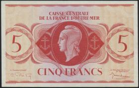 Fra.-Äquatorialafrika/F.Equatorial Africa P.15c 5 Francs L. 1944 (2)