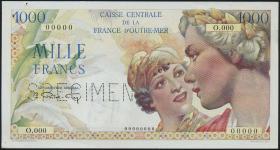 Frz.-Äquatorialafrika/F.Equatorial Africa P.26s 1000 Francs (1947) Specimen (1-)