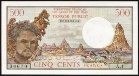 Frz. Afars und Issas P.33 500 Francs (1975) (2/1)