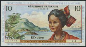 Franz. Antillen/French Antilles P.08a 10 Francs (1964) (2/1)