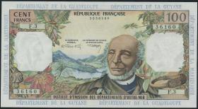Franz. Antillen/French Antilles P.10b 100 Francs (1964)