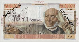 Französisch Guyana / French Guiana P.26s 5000 Francs (1947-1949) Specimen (1)