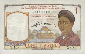 Franz. Indochina / French Indochina P.092 1 Piaster (1953)