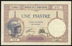 Franz. Indochina / French Indochina P.048b 1 Piaster (1927-31) (1)