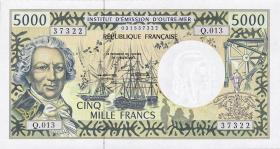 Frz. Pazifik Terr. / Fr. Pacific Terr. P.03b  5000 Francs (1996)