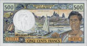 Frz. Pazifik Terr. / Fr. Pacific Terr. P.01 500 Francs (2001-03) (1)